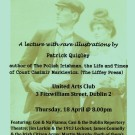 THE (NEW) REALITY LEAGUE PRESENTS:  'SLEEPING ON DYNAMITE: CONSTANCE AND CASIMIR MARKIEVICZ IN 1913'