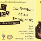 "Evening cabaret ""Confessions of an Immigrant""."